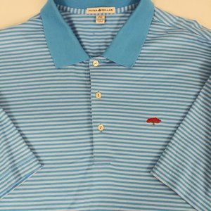 Peter Millar polo Shirt XXL Blue Striped Cotton